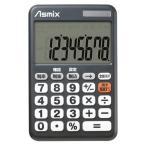 ASMIX アスカ デカ文字電卓 C0801BK ブラック