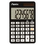 ASMIX アスカ デカ文字電卓ミニ C0802BK ブラック