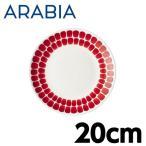 ARABIA アラビア 24h Tuokio トゥオキオ レッド プレート 20cm お皿 皿