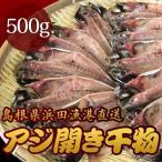 『代引不可』島根県浜田漁港直送 アジ開き干物 500g『返品不可』