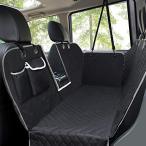 ペキュート[Pecute] 2019新型ペット用ドライブシート 車用ペットシート 可視メッシュ窓 ペット安全ベルト付き 後