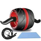 Tomoda 腹筋ローラー アブホイール ストレッチロープ付き 自動リバウンド式 エクササイズウィル エクササイズロ
