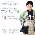 七五三 着物 レンタル 5歳 色柄 お任せ 羽織袴 アンサンブル 14点 フルセット 福袋