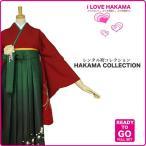 2尺袖 着物 袴 フルセット レンタル 赤×緑×ボカシ×刺繍  Mサイズ 小学生 対応