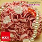 IKKOプロデュース・Princess Style バッグ・振袖・小紋・おしゃれ着に!【IKKO・パール・大花・バラ・ワイン】