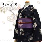 洗える着物 袷着物 ブランド【きもの道楽/ 黒地に桜