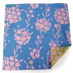 母の日 風呂敷 ふろしき 水色 黄緑 桜 105cm リバーシブル 綿 日本製 かわいい おしゃれ 和 コットン ギフト プレゼント 両面 お弁当箱 エコ