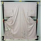 未仕立て  山口美術織物 正絹訪問着0856 桜鼠色四季花々柄