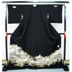 特別価格 お仕立て上がり高級正絹 留袖0383 鶴に松