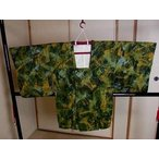 kiha41 リサイクル 化繊 子供羽織コート 女の子 黄緑・緑・芥子色・水色 身丈 77cm 中古