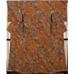 本摺手彩京衣裳友禅  樽本伊勢蔵氏作  小紋  正絹  花に波 ki19917  お出かけはお着物で