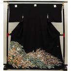 【大決算市SALE!�半額まで!�12 / 11マデ】正絹黒留袖(単品)(お仕立上がり)t-001送料無料