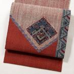 リサイクル着物 名古屋帯 正絹 ポイント柄 リサイクル 中古 紬、小紋に合わせて