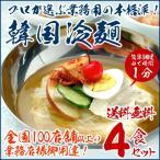 韓国冷麺4食セット プロが選ぶ業務用のゴクうま冷麺 常温・冷蔵 ・冷凍可 送料無料 グルメ