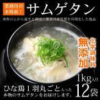 健康食品 韓国宮廷料理 サンゲタン 1kg×12袋 韓国直輸入! プロが選んだレトルト 参鶏湯 サムゲタン 常温・クール冷蔵便可 送料無料