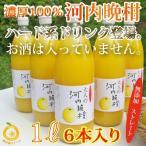 愛媛産河内晩柑ジュース6本 ストレート果汁1000ml 6本
