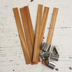 【キャンドル用木製芯】木芯(ウッドウィック) Lサイズ 14mm×130mm 6本入り【WOOD WICK】