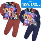 キュウレンジャー パジャマ 2トップスニットパジャマ 半袖 長袖 上下セット 光るステッカー付き