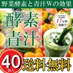 酵素青汁 40袋 箱なし 75種類の野菜酵素