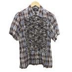 【10月18日値下】zucca チェックローンシャツ ブラウ