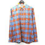 INDIVIDUALIZED SHIRTS チェックシャツ ブラウン×ブルー サイズ:33 (渋谷店) 201025