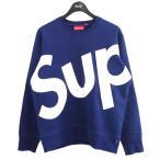 SUPREME 13AW「Sup Crewneck」シュプクルーネックスウェットトレーナー ブルー サイズ:S (原宿店) 210108