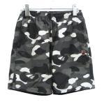 A BATHING APE 「CITY CAMO BEACH PANTS」シティカモビーチパンツ ブラック×ホワイト サイズ:S (渋谷神南店) 20