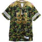 A BATHING APE×adidas FOOTBALL JERSEYフットボールジャージーVネックTシャツ カーキ サイズ:M (下北沢店) 20
