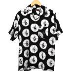 SUPREME×UNDERCOVER 18SS Public Enemy Rayon Shirt オープンカラーレーヨンシャツ ブラック サイズ:S