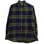 INDIVIDUALIZED SHIRTS チェック柄ボタンダウンシャツ ネイビー サイズ:15-32 (三条堀川店) 200218