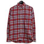 INDIVIDUALIZED SHIRTS チェックネルシャツ レッド サイズ:14 1/2-32 (三条堀川店) 201103