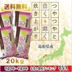 白米 島根県産 つや姫 5kg x 4袋(20kg)食味ランキング特A(平成29年度産米)