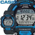 カシオ スポーツギア スポーツウオッチ S100H ブルー 樹脂バンド ラップ・スプリットタイム機能を装備 CASIO SPORTS GEAR FOR RUNNING