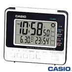 カシオ ウェーブセプター 電波置き時計 250J (ブラック×ホワイト) デジタル 温度/湿度・日付表示付き 生活環境お知らせ機能を搭載