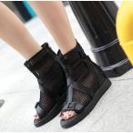 ショッピングブーツサンダル ブーツサンダル サマーブーツ 疲れない靴 オシャレサンダル オープントゥ ブーツサンダル フラットシューズ 美脚 ブーツ レディース靴 ブーツ 痛くない靴