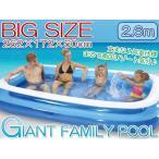大型ビニールプール ファミリープール  260×170cm 2気室 クッション性 水あそび レジャープール 家庭用プール###プールAPL102-N☆###