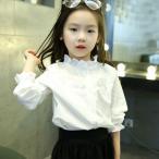 Tシャツ キッズ ジュニア 子供服 トップス 女の子 春秋 長袖 通園 通学 可愛い 韓国風 キャラクター 無地