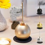 日本製 おりん ミニ デザイン 仏具 真鍮 りん棒 敷布 ペット仏壇 コンパクト かわいい おしゃれ メモリアル 手元 供養 ペットロス