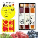 福山黒酢 桷志田 (かくいだ) 生フルーツ黒酢 アンサンブル 200ml×3 【産直品】ギフト