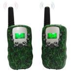 トランシーバー ウォッチ型 無線通信機 LEDライト迷彩色 2台セット 技適マック付き 日本語説明書