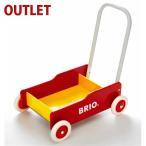25%OFF アウトレット品 ブリオ BRIO 歩行器 手押し車/赤  木のおもちゃ