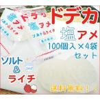ドデカ塩飴 ソルト&ライチ 100個入り×4袋セット 業務用 送料無料