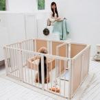 ショッピング仕切り ペットサークル 木製 大型犬 サークル 多頭飼い「サークル プラス F80XLp」
