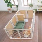 ペットサークル [ サークル プラス F80XLp メッシュ ] 木製 多頭飼い サークル ケージ 中型犬 大型犬 高さ80cm 室内用 扉付き 仕切り付き 日本製