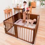 ペットサークル 犬用 [ペット サークル F 60XL ] サークル ケージ おしゃれ 多頭飼い 小型犬 木製 室内用 ドア付き 日本製