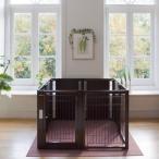 ペットサークル 犬用 [ ペット サークル F 80XL メッシュ B ] サークル ケージ おしゃれ 多頭飼い 中型犬 大型犬 木製 室内用 ドア付き 日本製