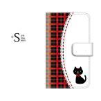 スマホケース 手帳型 かんたんスマホ ワイモバイル ケース 携帯ケース スマホカバー カバー 705kc 猫の画像