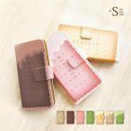 ショッピングスイーツ ストラップ iphone6 ケース 手帳型 ビスケット お菓子 スイーツ カバー