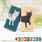 iphone 6s plus ケース 手帳型 ネコ 黒猫 動物 カバー