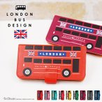 アイフォン8プラス ケース 手帳 オシャレ iPhone8 Plus 手帳型 アイフォン8 プラス バス ロンドン 車 カバー